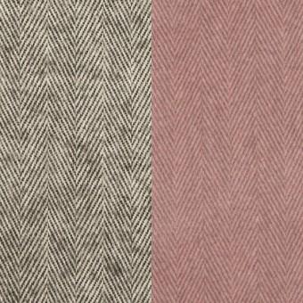 コットン×ミックス(グレー)×ヘリンボーン_フロッキー_イタリア製