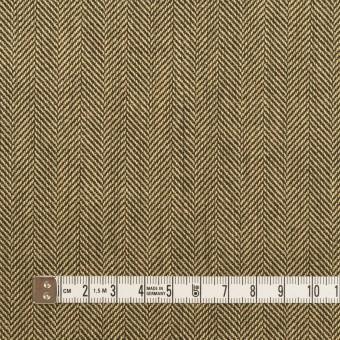 ウール×ミックス(カーキベージュ&ダークブラウン)×ヘリンボーン サムネイル4