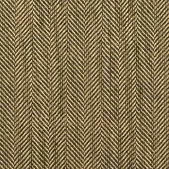 ウール×ミックス(カーキベージュ&ダークブラウン)×ヘリンボーン サムネイル1
