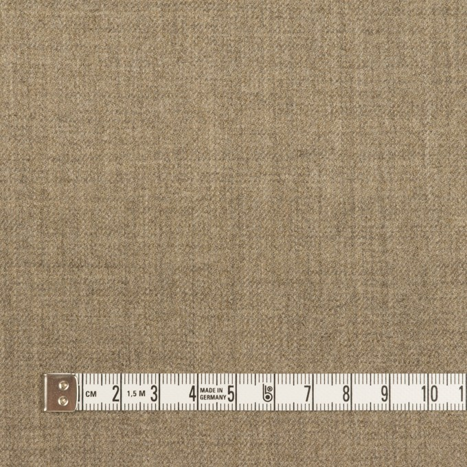 ウール×無地(オートミール)×サージ イメージ4