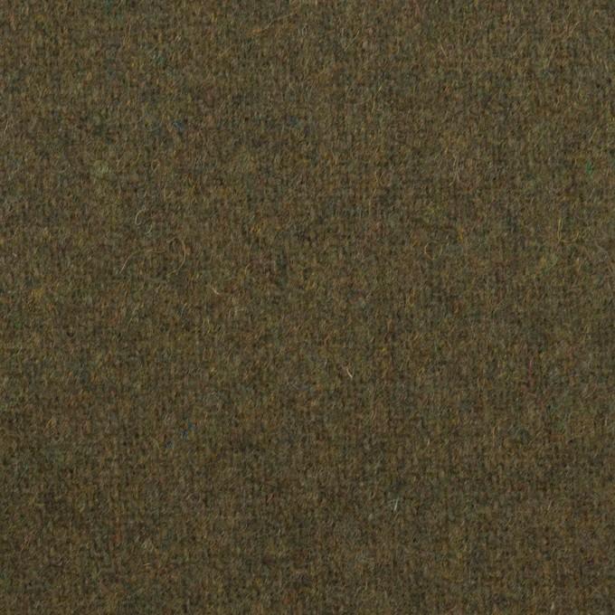 ウール&ポリエステル混×無地(カーキグリーン)×ツイード イメージ1