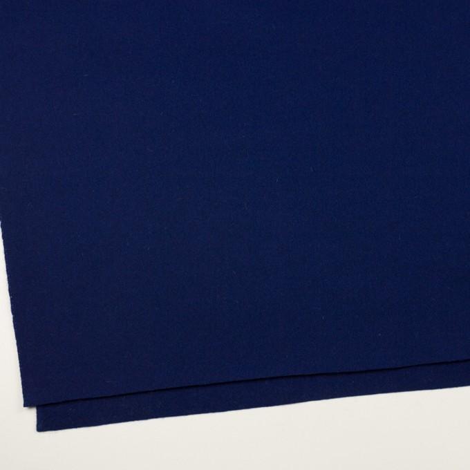 ウール×無地(プルシアンブルー)×メルトン イメージ2