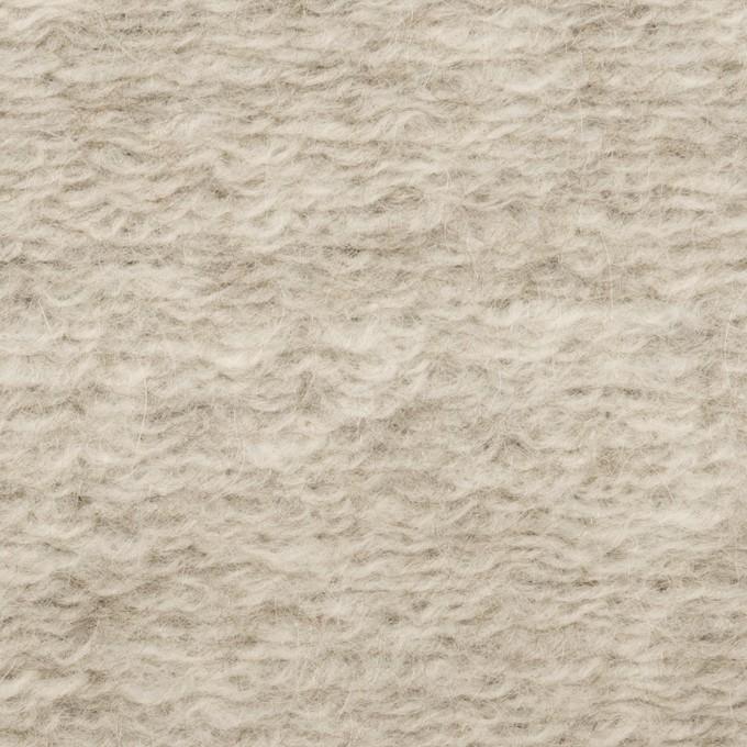 モヘア&ウール混×無地(パールグレー)×ループニット_イタリア製 イメージ1
