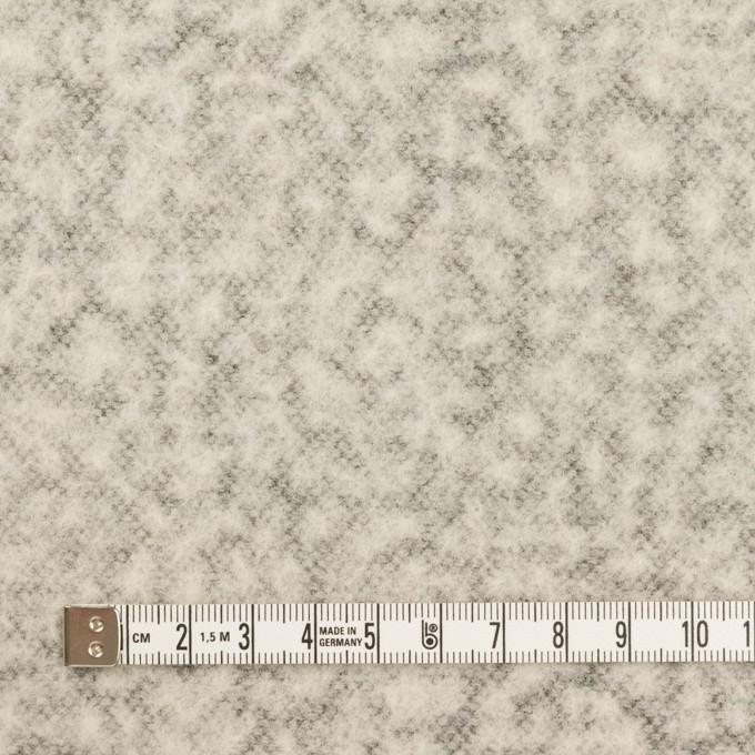 ウール&ナイロン×無地(パールグレー)×メッシュニット イメージ4