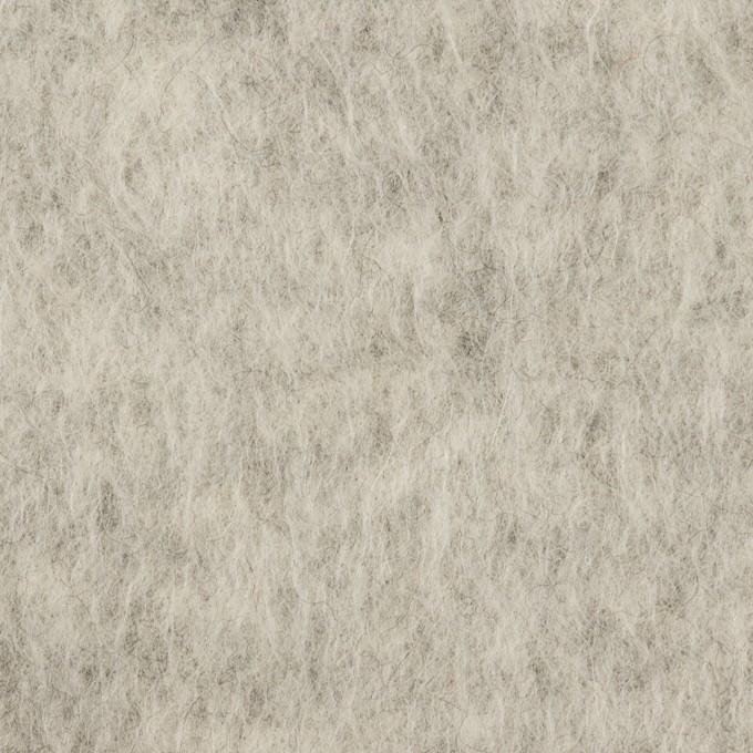 ウール&ポリエステル×無地(ライトグレー)×フリースニット イメージ1