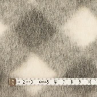 ウール&モヘア混×ダイヤ(グレー)×シャギーニット サムネイル4