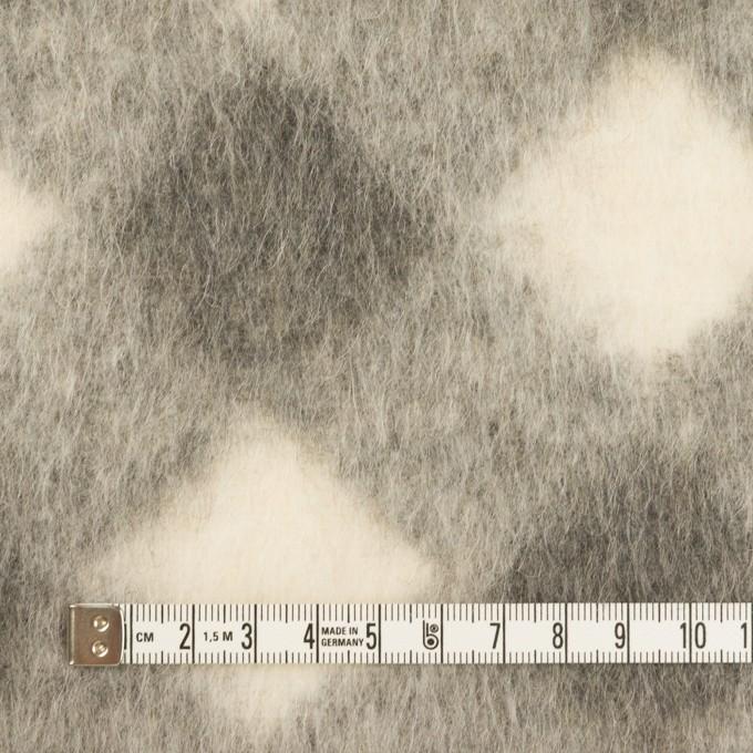 ウール&モヘア混×ダイヤ(グレー)×シャギーニット イメージ4