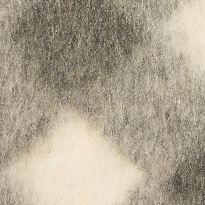 ウール&モヘア混×ダイヤ(グレー)×シャギーニット イメージ1
