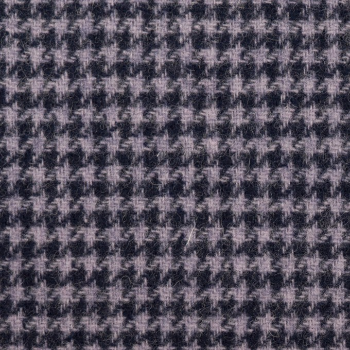 ウール&アクリル混×千鳥格子&無地(グレープ、ネイビー&ネイビー)×ツイード&フラノ(Wフェイス)_全2色 イメージ1