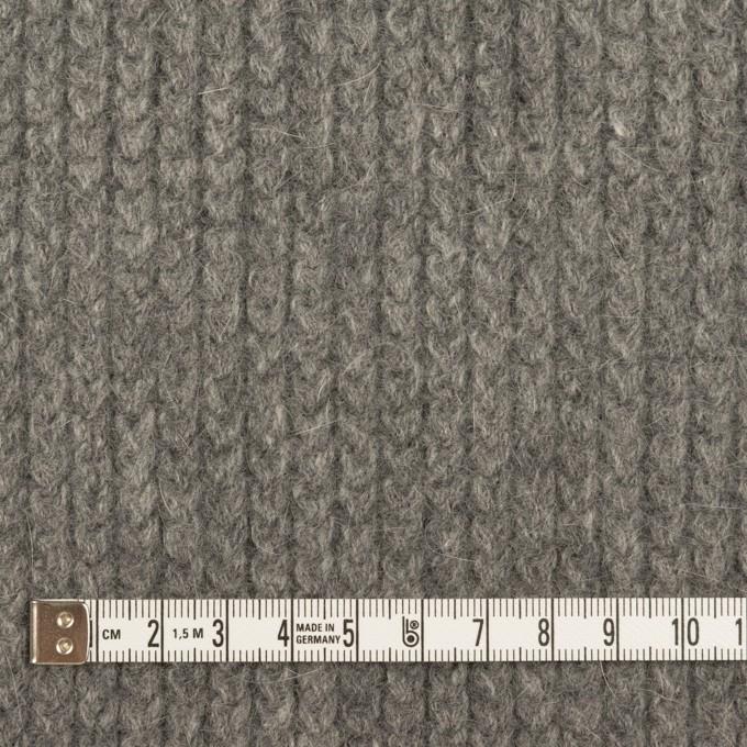 ウール&アンゴラ混×無地(グレー)×バルキーニット_全3色 イメージ4