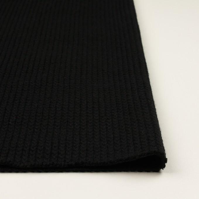 ウール&アンゴラ混×無地(ブラック)×バルキーニット_全3色 イメージ3