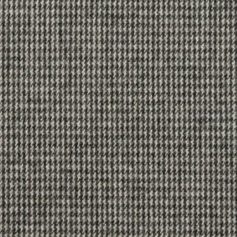 コットン×チェック(グレー)×千鳥格子_イタリア製