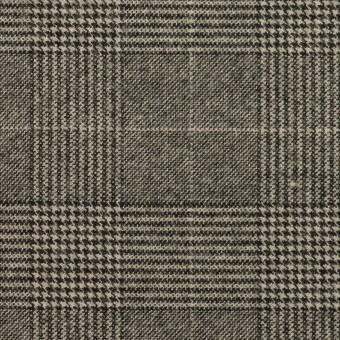 ポリエステル&レーヨン混×チェック(グレー)×サージストレッチ
