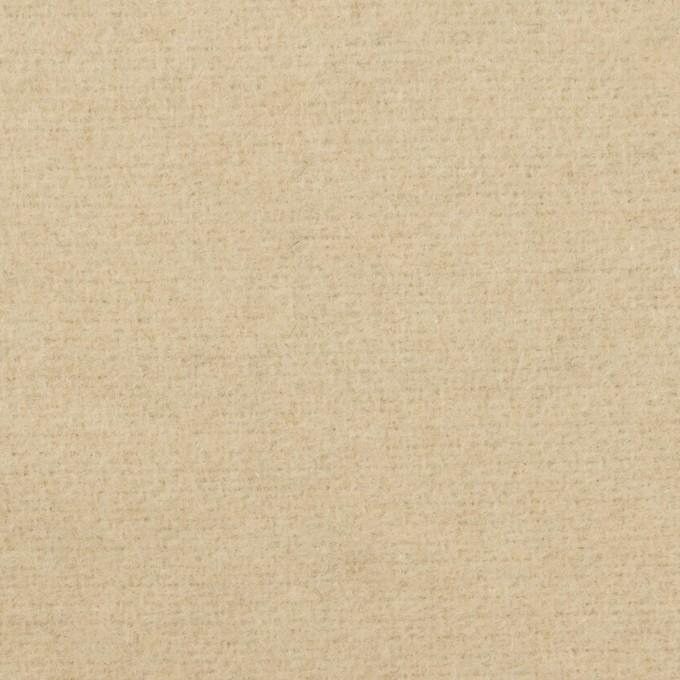ウール&アクリル混×無地(ライトベージュ)×フラノ(フランネル) イメージ1