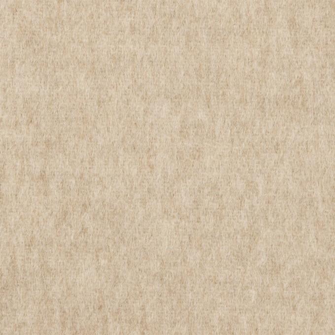 ウール×無地(オートミール)×メルトン イメージ1