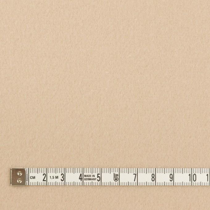 ウール&ナイロン×無地(ウォームベージュ)×ソフトメルトン イメージ4