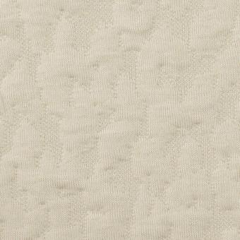 コットン&レーヨン混×レオパード(アイボリー)×ジャガードニット(キルティング)_全2色