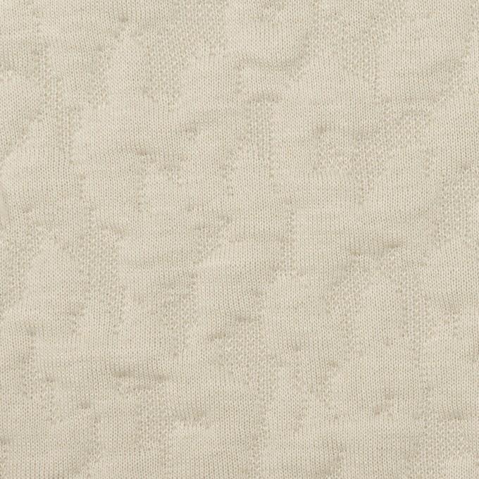 コットン&レーヨン混×レオパード(アイボリー)×ジャガードニット(キルティング)_全2色 イメージ1