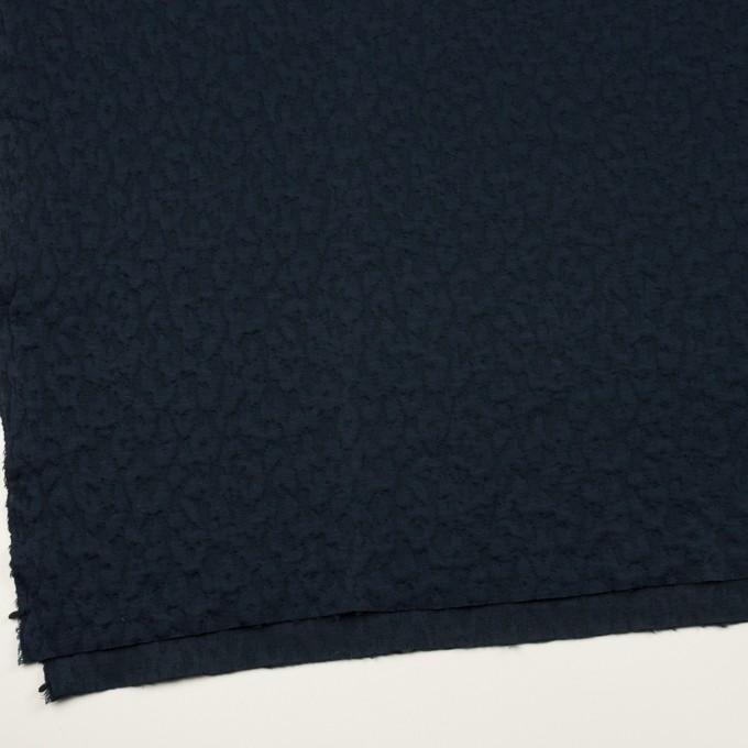 コットン&レーヨン混×レオパード(ネイビー)×ジャガードニット(キルティング)_全2色 イメージ2