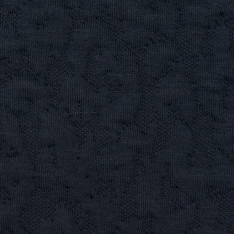 コットン&レーヨン混×レオパード(ネイビー)×ジャガードニット(キルティング)_全2色