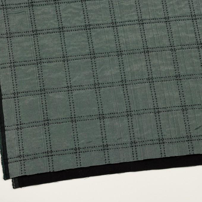 ウール&コットン混×チェック(バルビゾン&ブラック)×オーガンジー&ツイード イメージ2