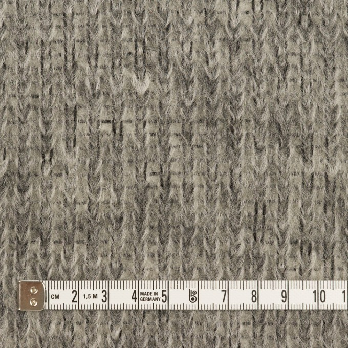 モヘア&ウール混×無地(グレー)×バルキーニット_イタリア製 イメージ4