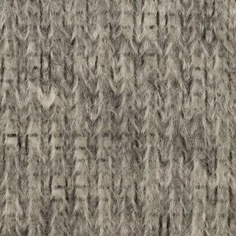 モヘア&ウール混×無地(グレー)×バルキーニット_イタリア製