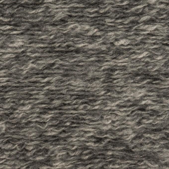 ウール&アクリル混×ミックス(チャコールグレー)×ループニット イメージ1