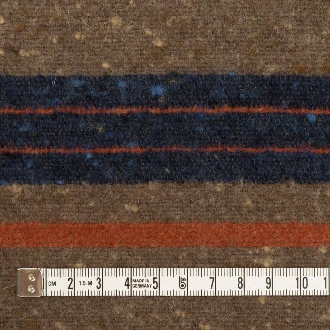 ウール&ポリエステル混×ボーダー(モカブラウン&ネイビー)×ツイード イメージ4