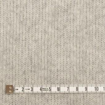 ウール&コットン混×無地(ライトグレー)×Wニット_全2色 サムネイル4