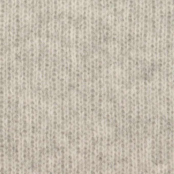 ウール&コットン混×無地(ライトグレー)×Wニット_全2色 イメージ1