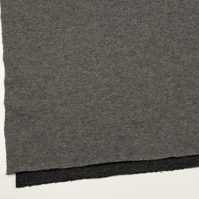 ウール&アクリル混×無地(チャコールグレー)×裏毛ニット_全2色 イメージ2