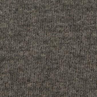 ウール&アクリル混×無地(チャコールグレー)×裏毛ニット_全2色