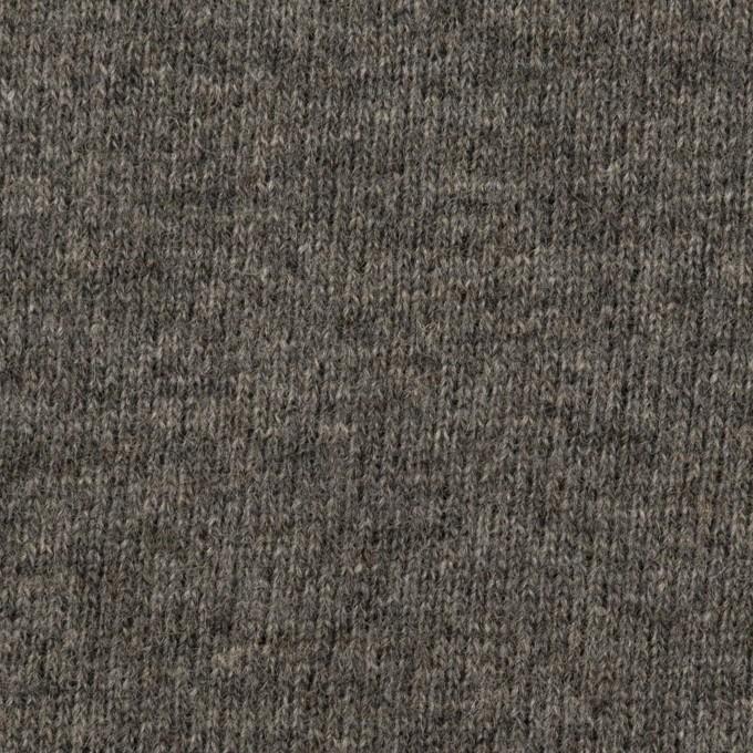 ウール&アクリル混×無地(チャコールグレー)×裏毛ニット_全2色 イメージ1
