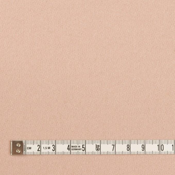 ウール×無地(サーモンピンク)×フラノ(フランネル) イメージ4