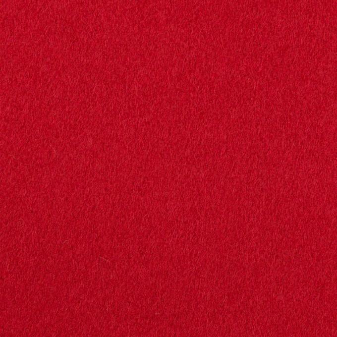 ウール×無地(レッド)×フラノ(フランネル) イメージ1
