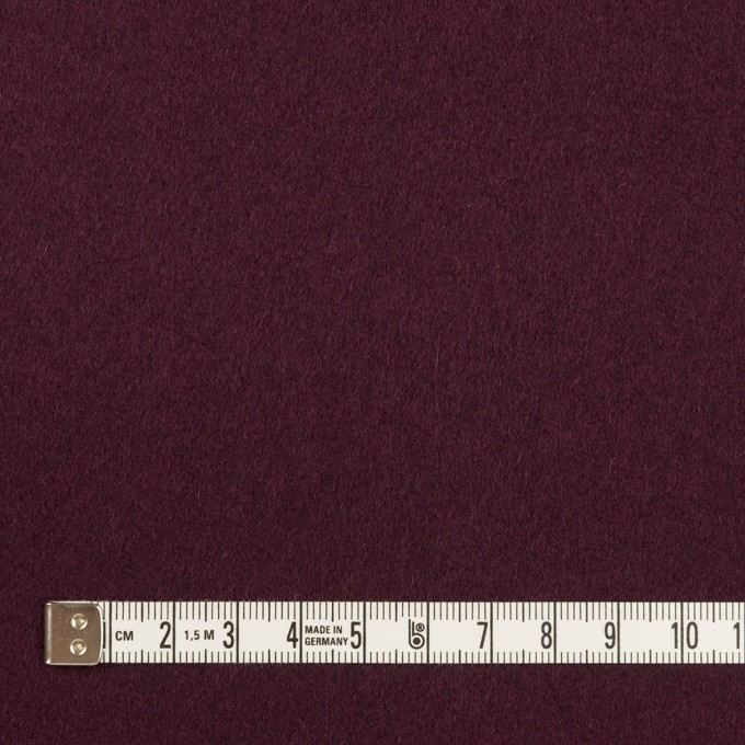 ウール×無地(プラムパープル)×フラノ(フランネル) イメージ4