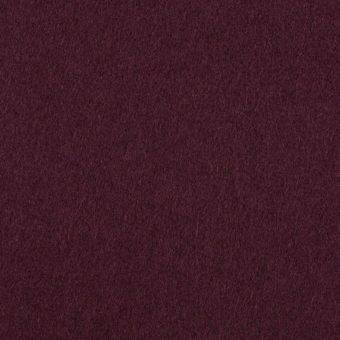 ウール×無地(プラムパープル)×フラノ(フランネル) イメージ1