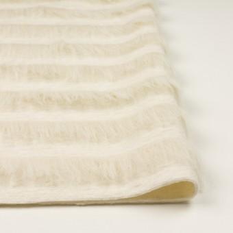 ポリエステル&ウール×ボーダー(ミルク)×シャギーニット_全2色 サムネイル3