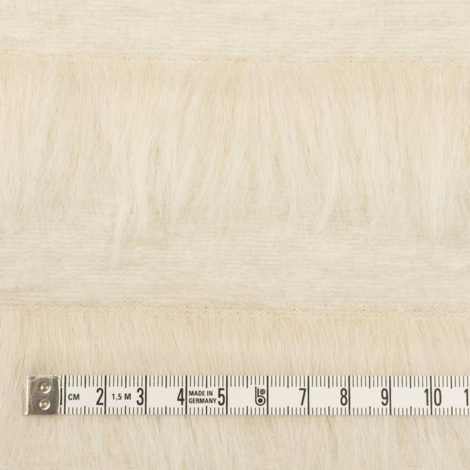 ポリエステル&ウール×ボーダー(ミルク)×シャギーニット_全2色 イメージ4