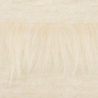 ポリエステル&ウール×ボーダー(ミルク)×シャギーニット_全2色
