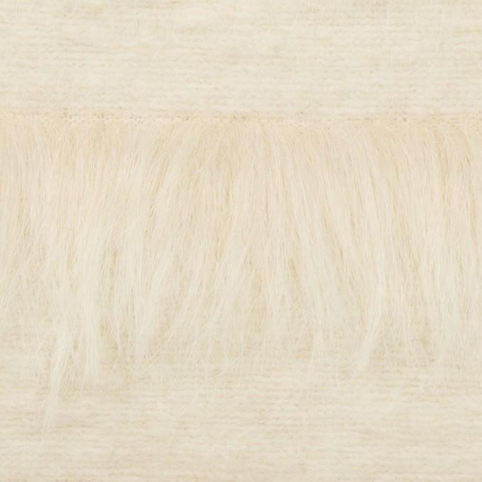 ポリエステル&ウール×ボーダー(ミルク)×シャギーニット_全2色 イメージ1