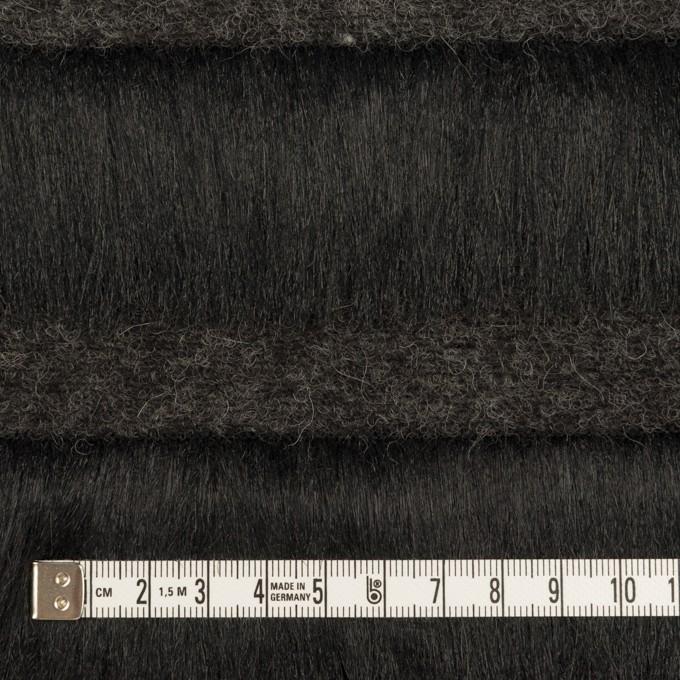 ポリエステル&ウール×ボーダー(ブラック)×シャギーニット_全2色 イメージ4
