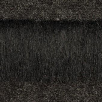 ポリエステル&ウール×ボーダー(ブラック)×シャギーニット_全2色