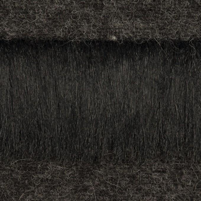ポリエステル&ウール×ボーダー(ブラック)×シャギーニット_全2色 イメージ1