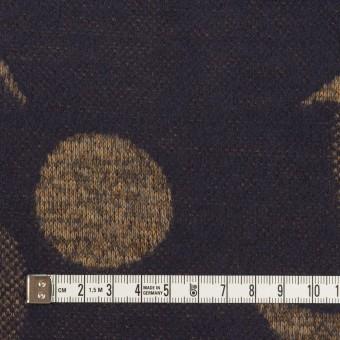 ウール&ポリエステル×フラワー(ナッツ&ネイビー)×ジャガードニット_全3色 サムネイル4