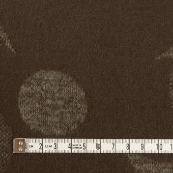ウール&ポリエステル×フラワー(カーキ&アッシュブラウン)×ジャガードニット_全3色 サムネイル4