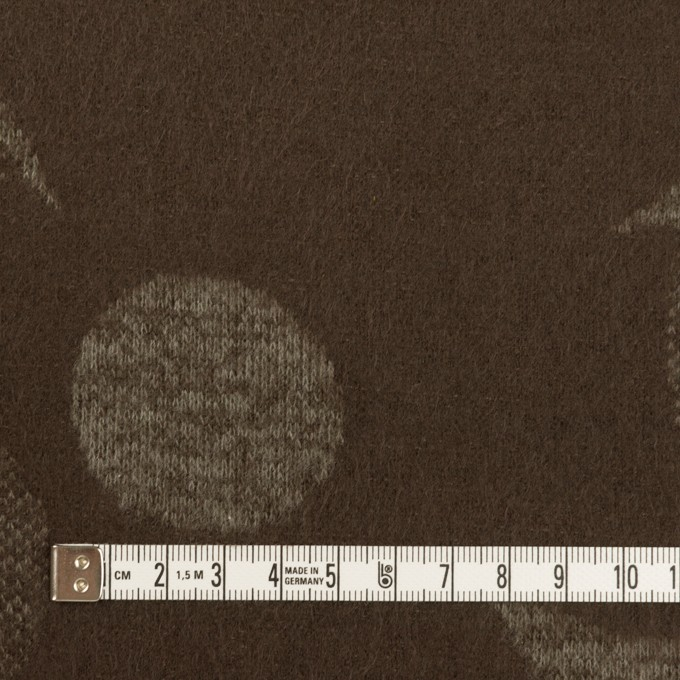 ウール&ポリエステル×フラワー(カーキ&アッシュブラウン)×ジャガードニット_全3色 イメージ4