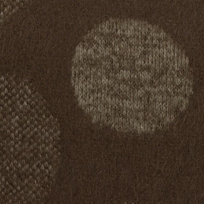 ウール&ポリエステル×フラワー(カーキ&アッシュブラウン)×ジャガードニット_全3色 イメージ1