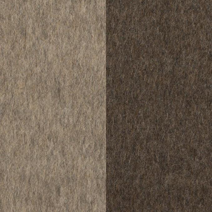 カシミア&ウール×無地(アッシュブロンド&アッシュブラウン)×フラノ(Wフェイス) イメージ1